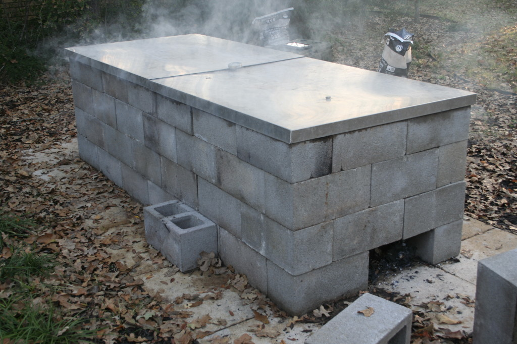 cinder block bbq pit plans anatomy of a cinder block pit barbecue 634