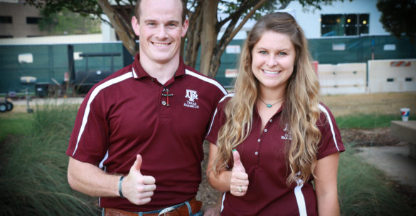 Eric Hamilton and Brogan Horton, ANSC 117, Texas Barbecue graduate teaching assistants