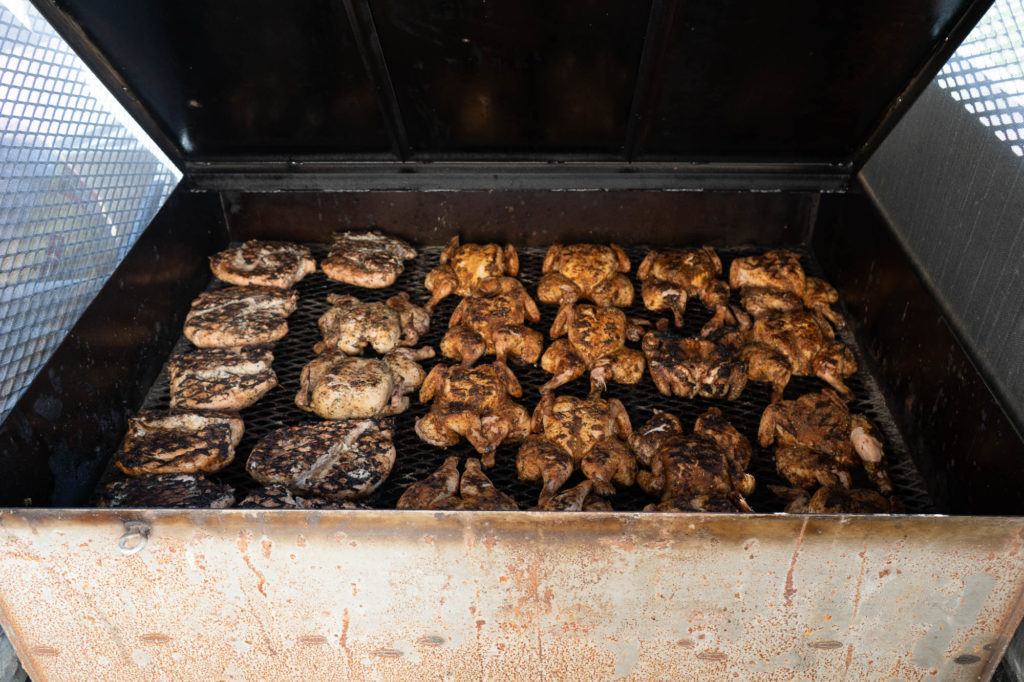 Chicken on the grill at Barbecue Summer Camp (photo by Kelly Yandell)