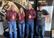 Jeff Savell, Brogan Horton, Davey Griffin, and Daniel Vaughn at the Texas Monthly 'Cue Course