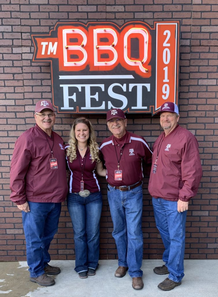Davey Griffin, Brogan Horton, Jeff Savell, and Ray Riley at the Texas Monthly BBQ FEST 2019