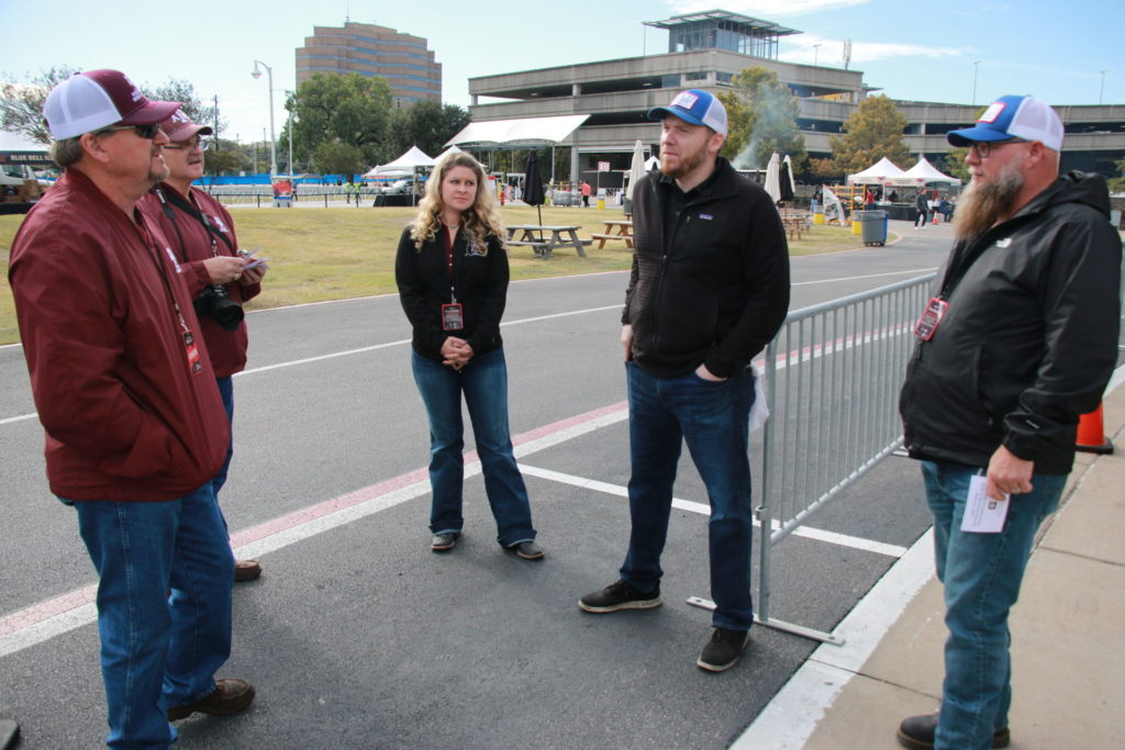 Ray Riley, Davey Griffin, Brogan Horton with Hutchins BBQ folks at Texas Monthly BBQ FEST 2019