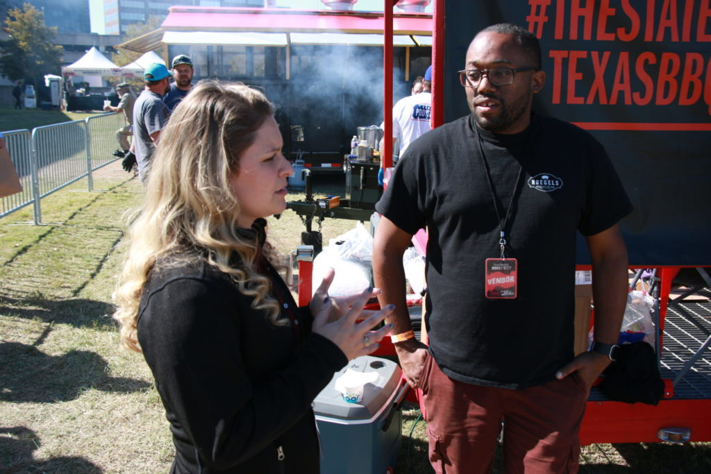 Brogan Horton with Dominic Colbert, Brotherton's Black Iron Barbecue at the Texas Monthly BBQ FEST 2019