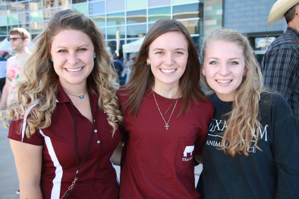 Brogan Horton, Emily Bush, and Sarah Crum at the Texas Monthly BBQ FEST
