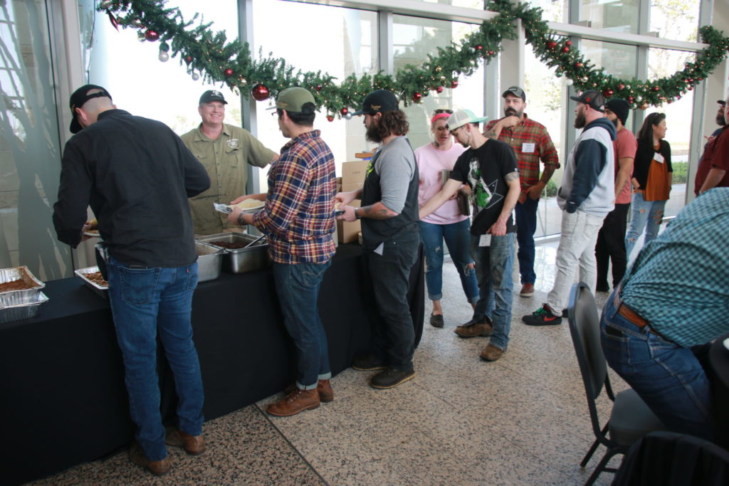 Lunch provided by Brotherton's Black Iron Barbecue